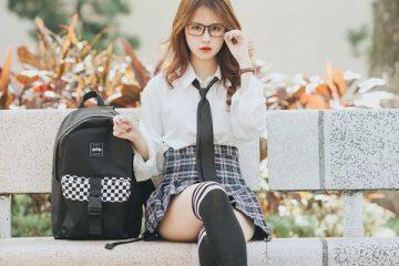 Hot girl Học viện Báo chí đẹp như idol Hàn Quốc