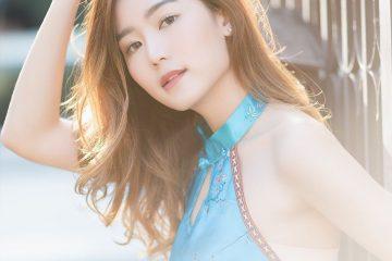 Blue Chinese Traditional Undershirt ▪ Thailand Beautiful Girl Pattaravadee Boonmeesup