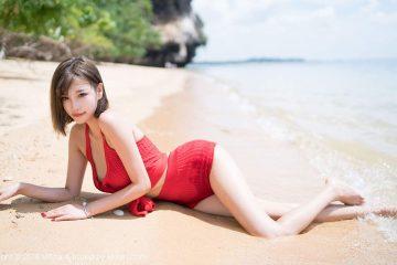 Thời trang bãi biển gợi cảm người mẫu Yang Chen Chen 杨晨晨