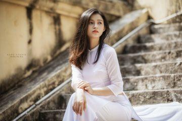 Ảnh đẹp Áo dài   Người đẹp Khánh Linh